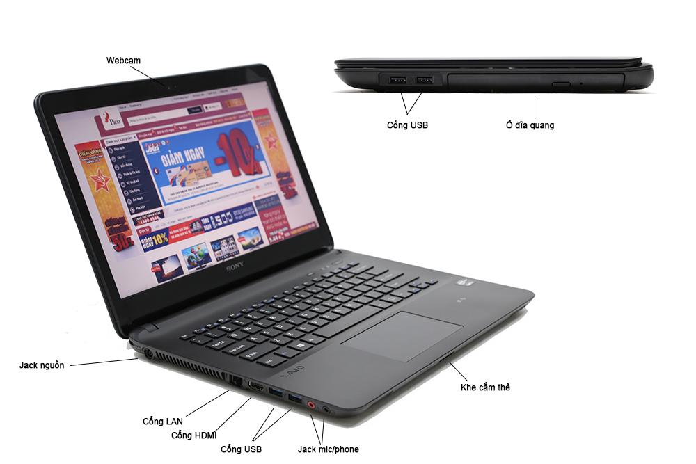 Bán laptop cũ Sony SVF1421DSGB giá rẻ tại Hà Nội