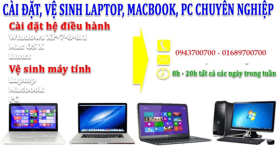 Cài win laptop tại Bắc Ninh