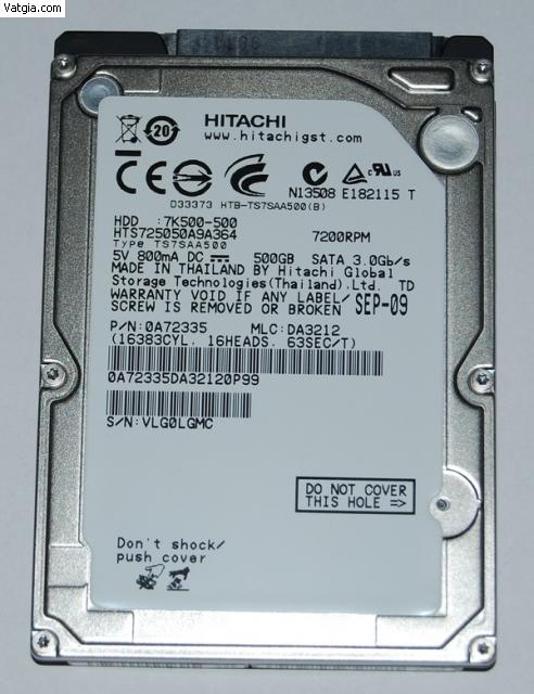 Ổ cứng cũ laptop 750g sata